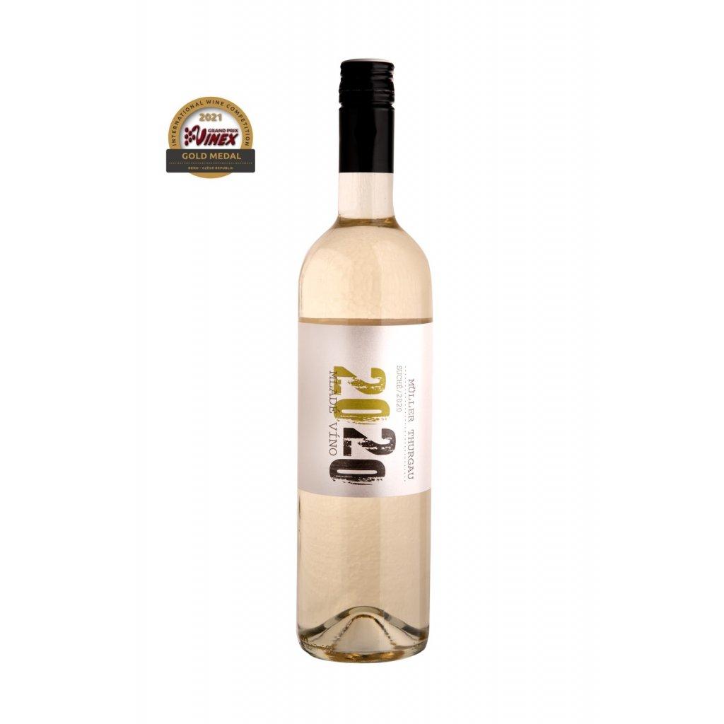Muller Thurgau | bílé víno | suché | zemské | 2020 | 0,75 l Vinařství Zapletal