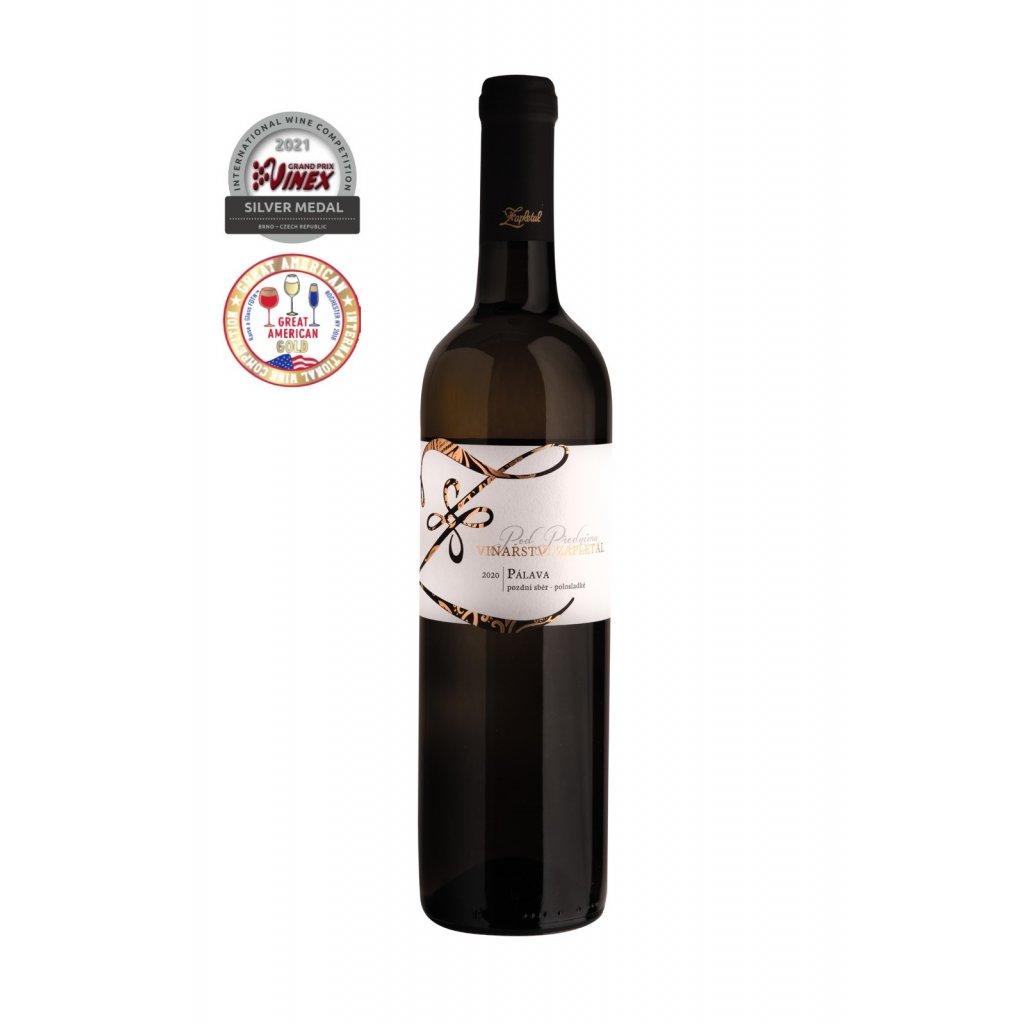 Vinařství Zapletal | Pálava | bílé víno | polosladké | pozdní sběr | 2020 | 0,75 l