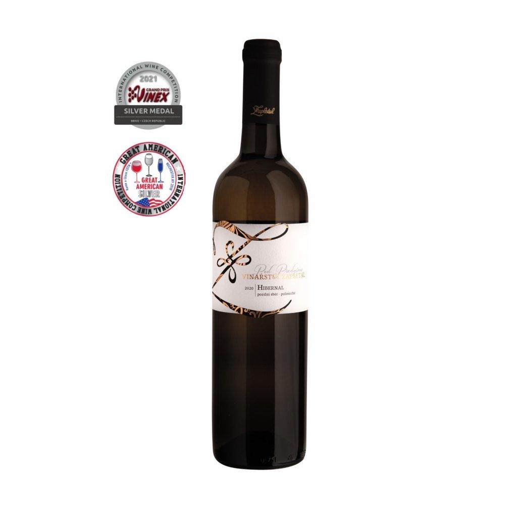 Vinařství Zapletal | Hibernal | bílé víno | polosuché | pozdní sběr | 2020 | 0,75 l