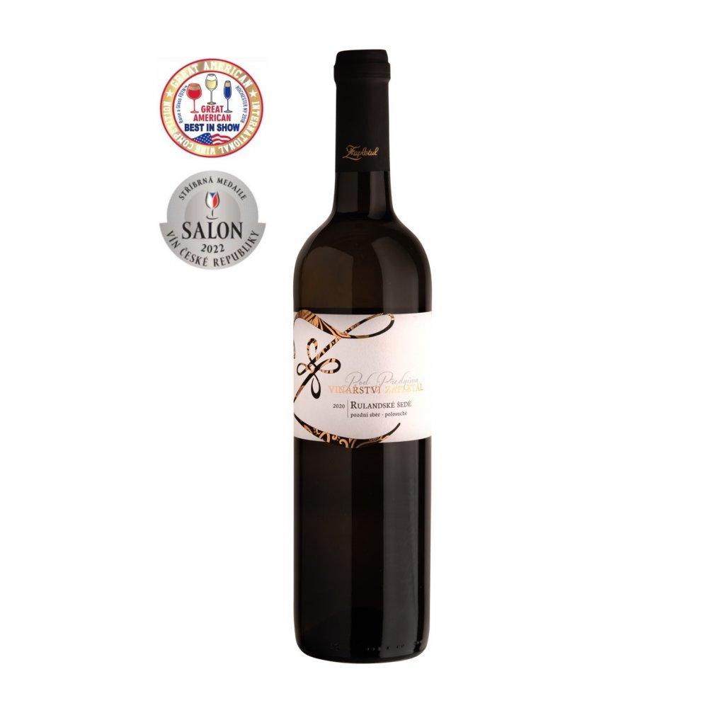 Rulandské šedé | polosuché | pozdní sběr | 2020 | 0,75 l Vinařství Zapletal