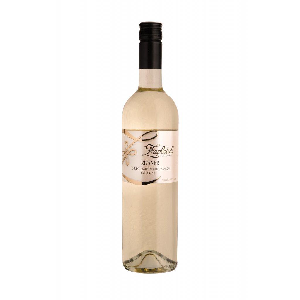 Rivaner | bílé víno | polosuché | jakostní | 2020 | 0,75 l Vinařství Zapletal