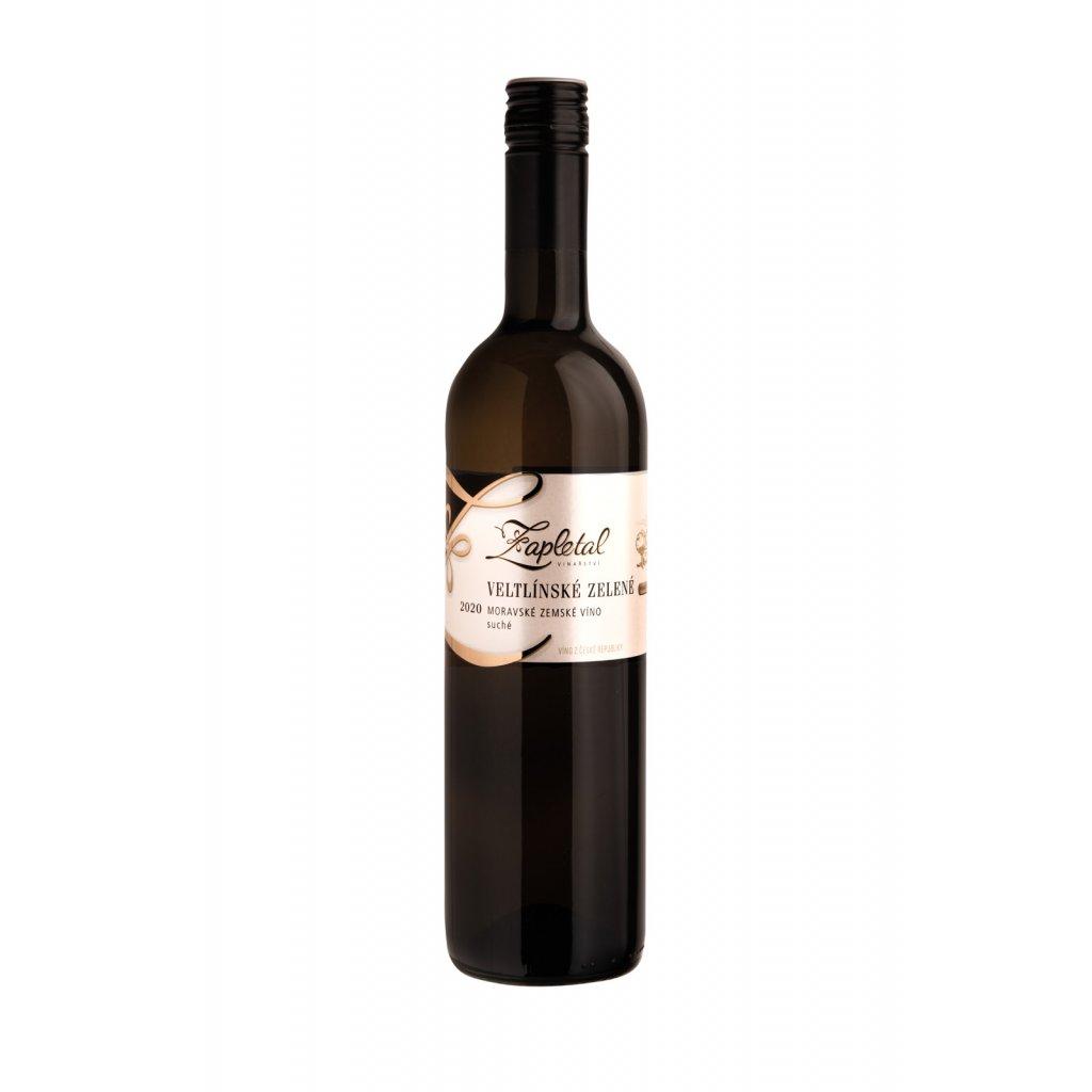 Veltlínské zelené | bílé víno | suché | zemské | 2020 | 0,75 l Vinařství Zapletal