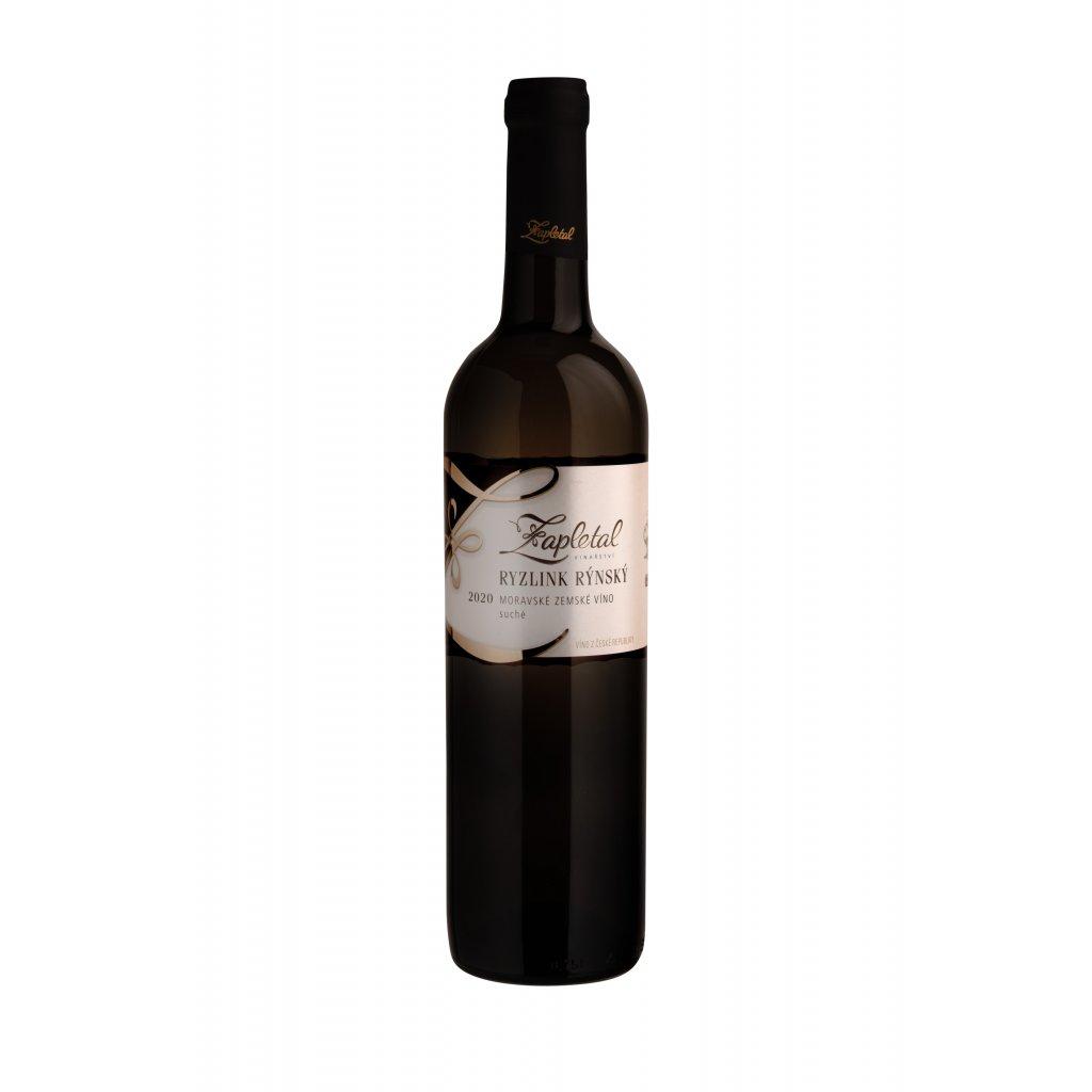 Ryzlink rýnský | bílé víno | suché | zemské | 2020 | 0,75 l Vinařství Zapletal
