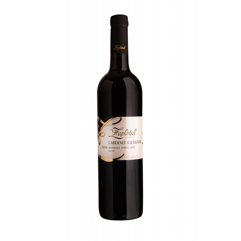 Cabernet Sauvignon | červené víno | suché | zemské | 2016 | 0,75 l Vinařství Zapletal