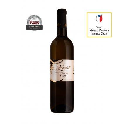 Vinařství Zapletal | Ryzlink rýnský | bílé víno | polosuché | jakostní | 2018 | 0,75 l