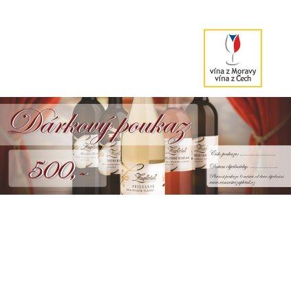 Dárkové víno poukaz 500   Vinařství Zapletal