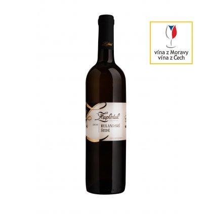 Rulandské šedé (macerováno) | polosuché | pozdní sběr | 2018 | 0,75 l Vinařství Zapletal