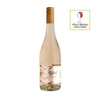 Frizzante Pinot   polosuché   bílé víno   zemské   2020   0,75 l Vinařství Zapletal