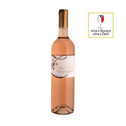 Rulandské modré klaret | růžové víno | polosuché | výběr z hroznů | 2020 | 0,75 l Vinařství Zapletal