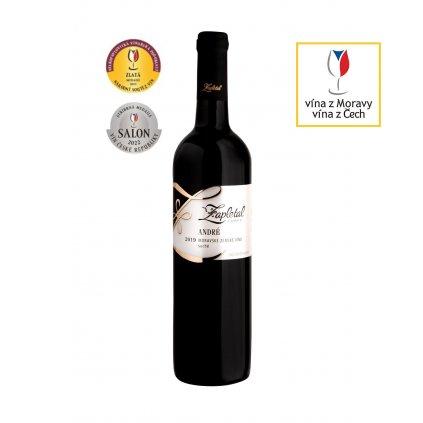 André | červené víno | suché | zemské | 2018 | 0,75 l Vinařství Zapletal
