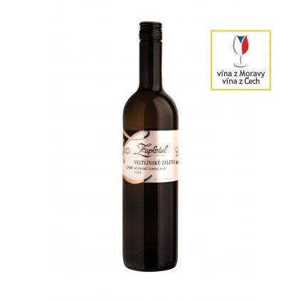 Veltlínské zelené   bílé víno   suché   zemské   2020   0,75 l Vinařství Zapletal