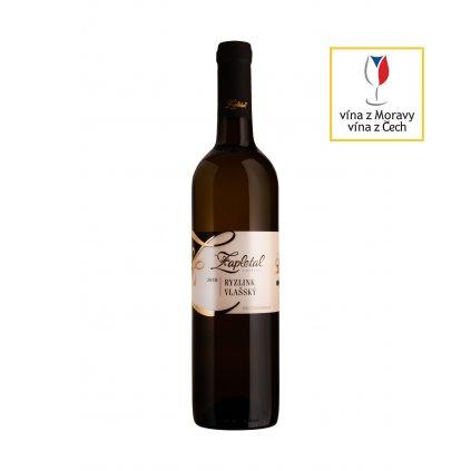 Ryzlink vlašský | bílé víno | polosuché | kabinetní víno | 2020 | 0,75 l Vinařství Zapletal