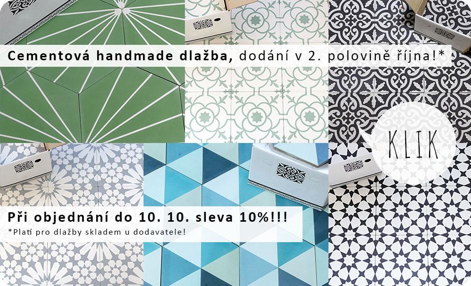 Cementová dlažba na zakázku, skladem u dodavatele, skladem v ČR