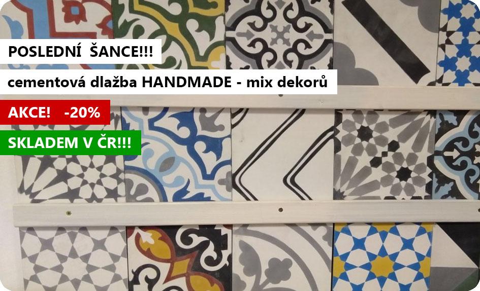 cementová dlažba handmade 20x20 patchwork