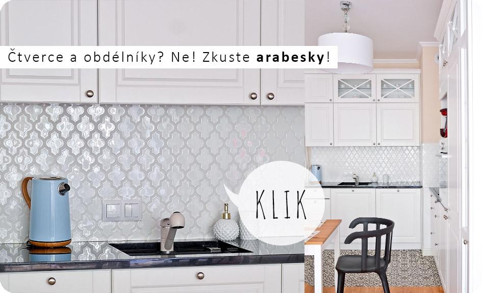 Arabesky mozaiky do kuchyně i koupelny