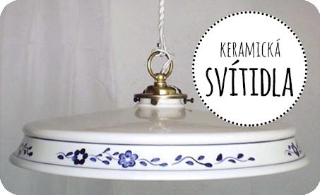 keramická svítidla lustry lampy vintage industriál