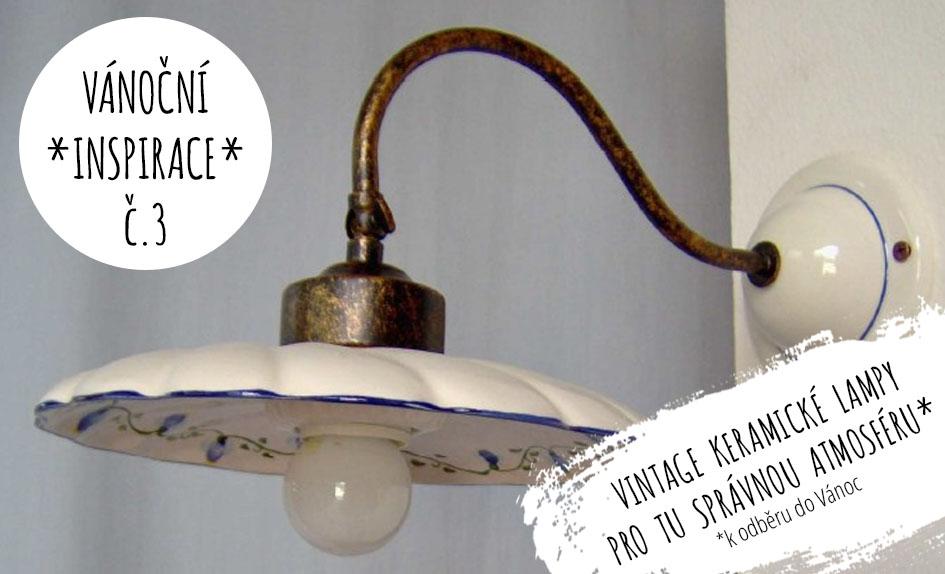 keramické lampy lustry vintage