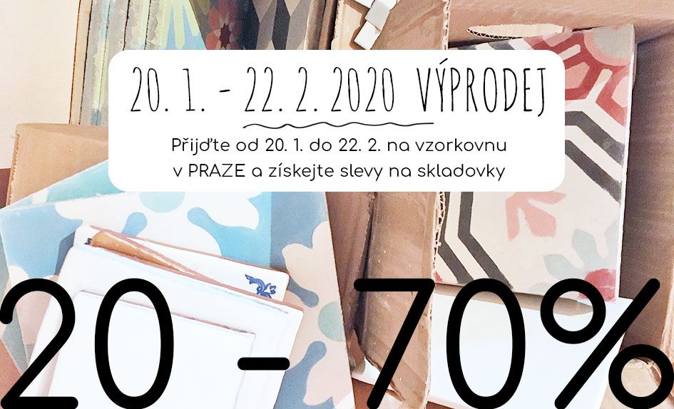 Zimní výprodej na vzorkovně v Praze