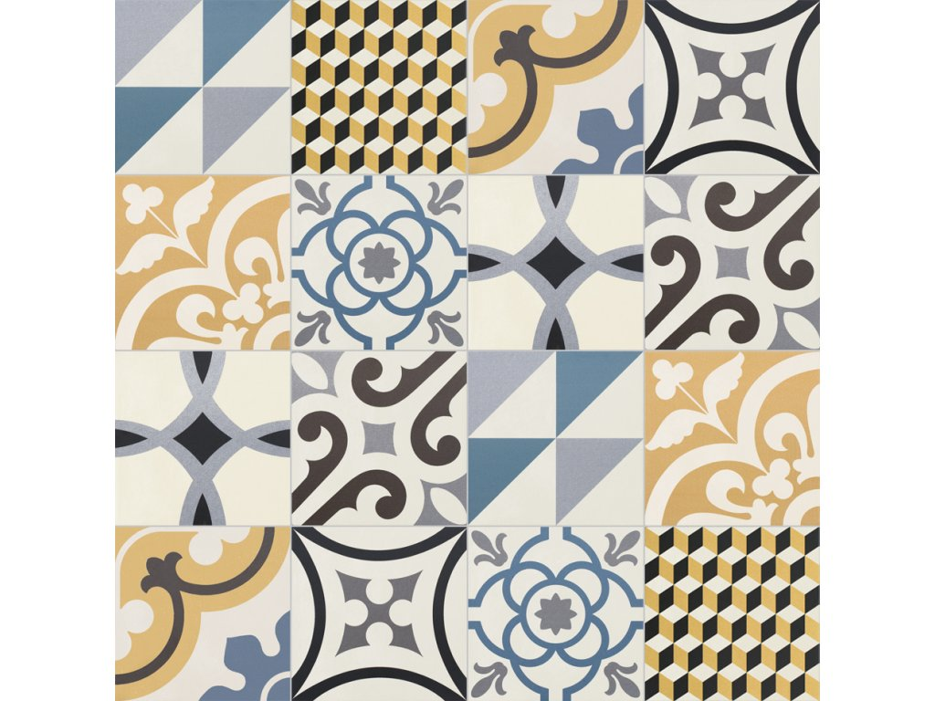 neocim plus obklady do koupelny dlazba patchwork 20x20 caramel bleu 04