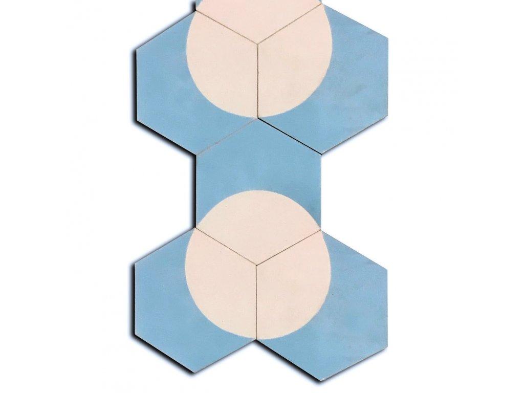 cementova orientalni hexagonalni dlazba obklad hexa moon 18+09