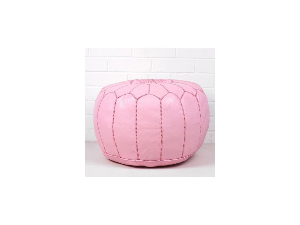 Moroccan pouf rosa2