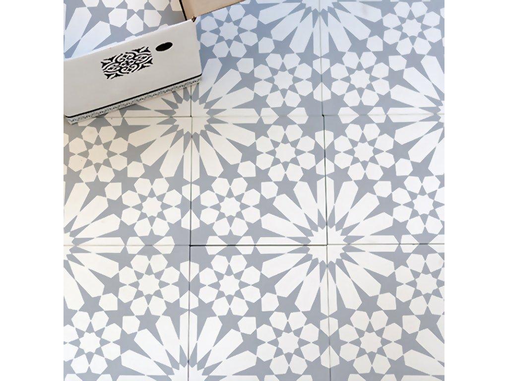 dlazba orientalni cementova dekor 20x20 menton 0101 01