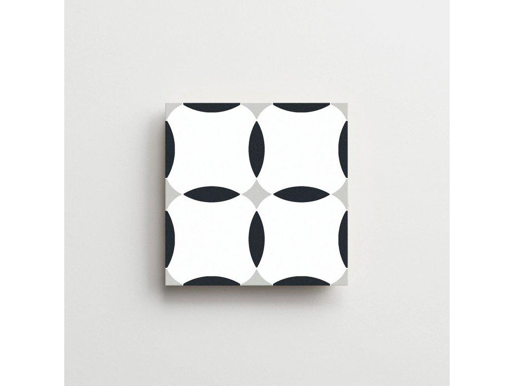 element dlazba obklady dekory cerno bile modre retro historicka geometry