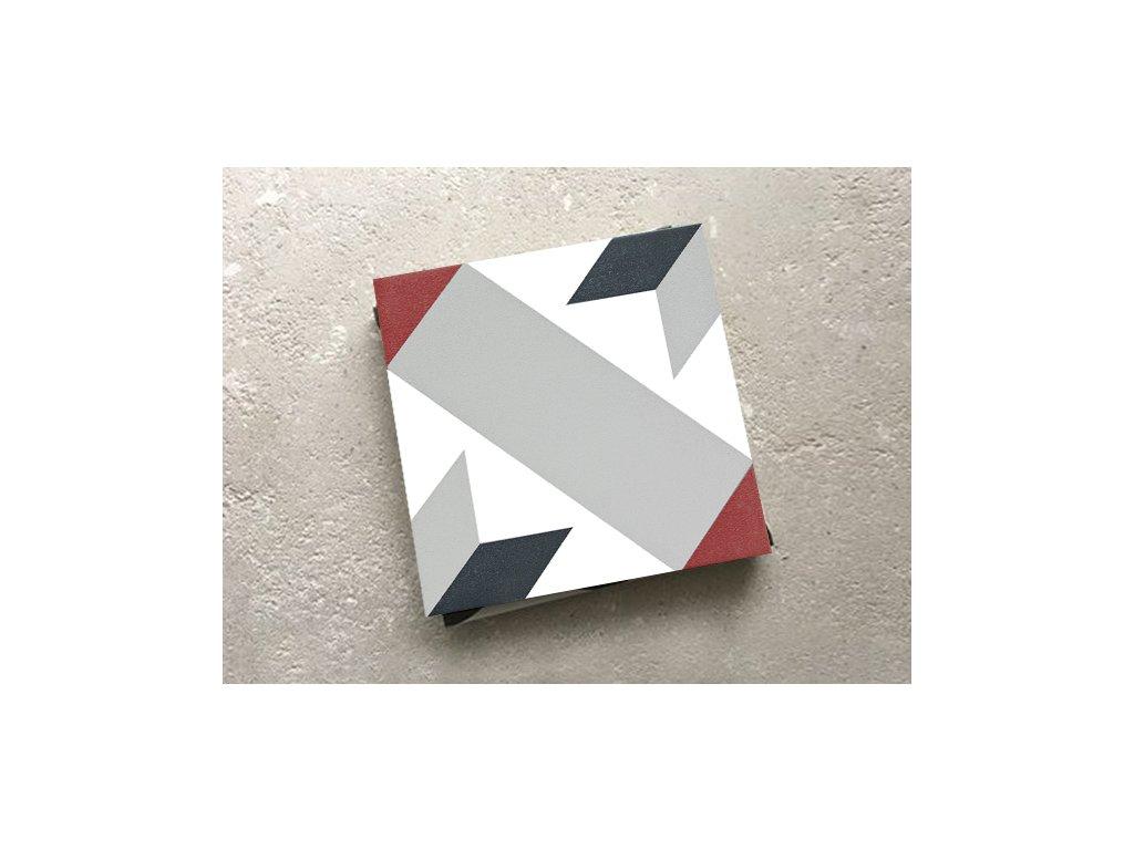neocim classic dlazba odolna 20x20 dekor historicka optique framboise