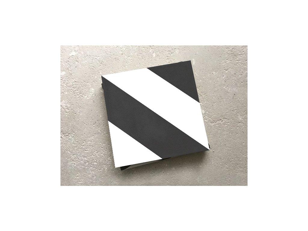 neocim classic dlazba odolna 20x20 dekor diago noir