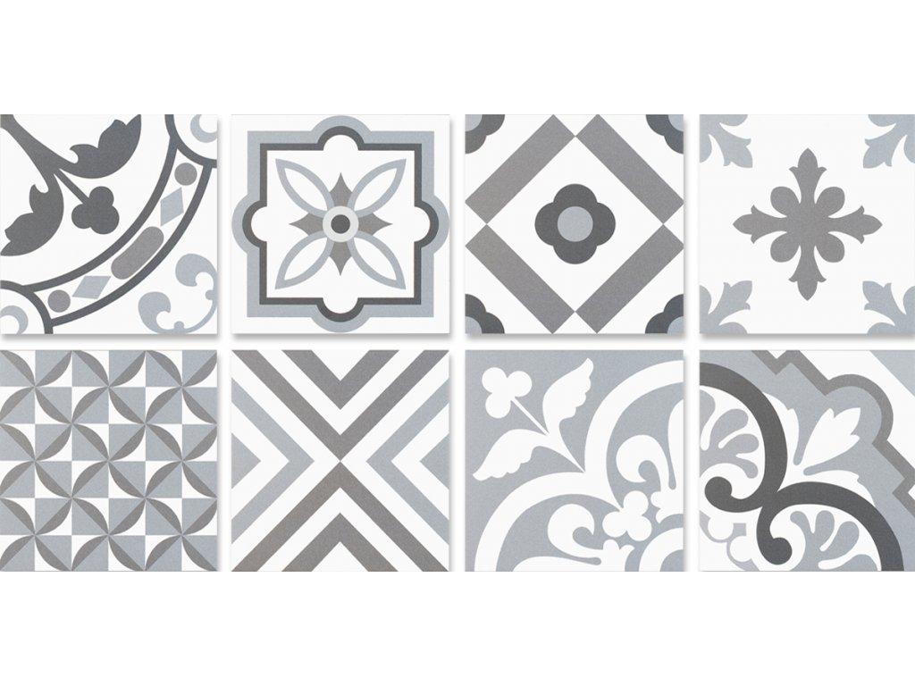 Neocim Plus Patchwork Origami Gris/Plomb 20x20 dlazba slinutá moderní mix