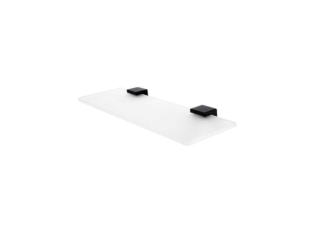kibo cerne sklenena police 40 cm