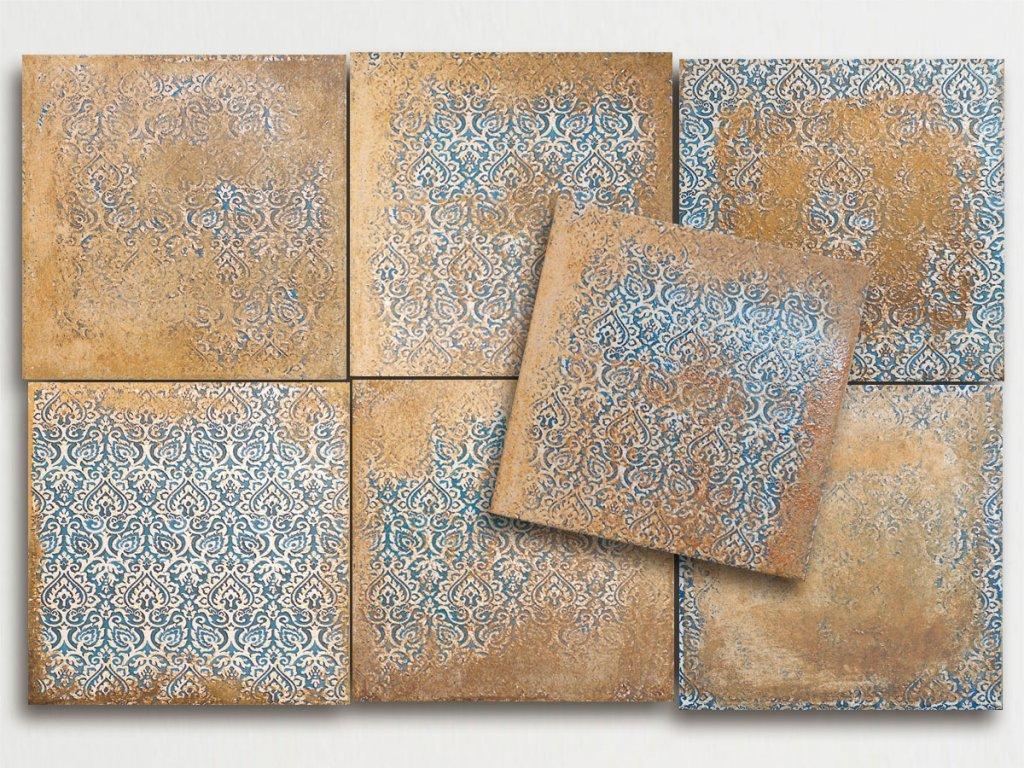 clay dlazba retro rustikalni terakota dekory sienna