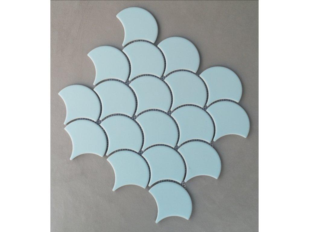 keramicka mozaika supina svetle modra matna vinciobklady