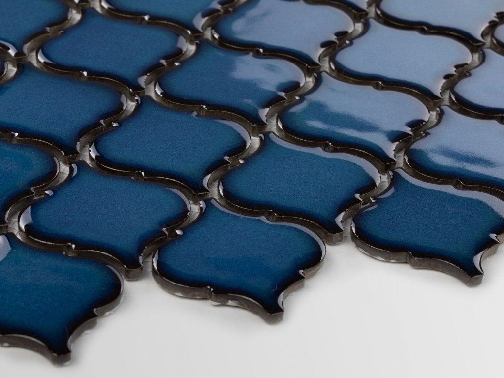 arabeska mozaika stredni tmave modra lesk 02