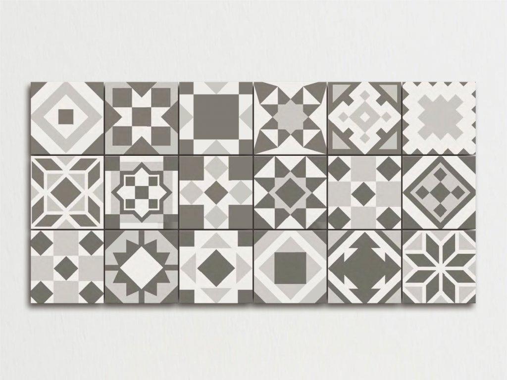 twenty dlazba dekory retro historicka 20x20 black white 03