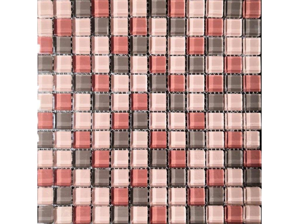 mozaika sklenena ruzova