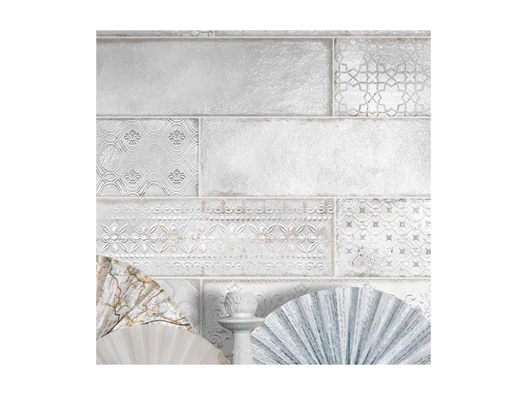 monopole bloom obklady obdelnik 10x30 dekor relief retro 03
