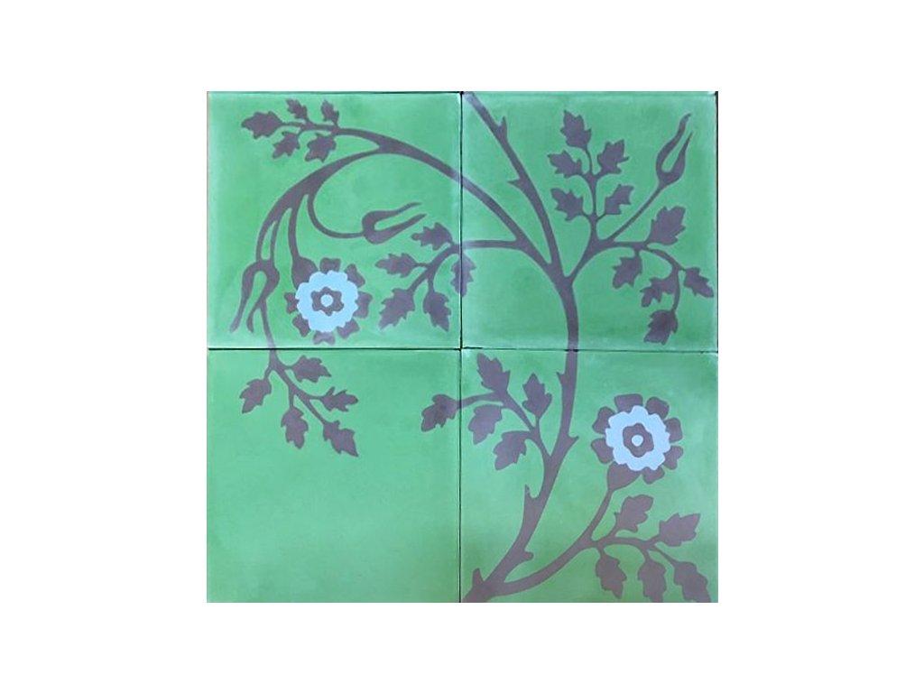 michele cementova orientalni dlazba kvetiny handmade 20x20 02