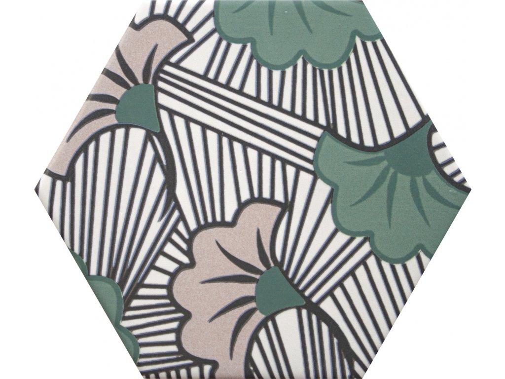 goog vibes hexagonalni dlazba obklady dekory jednobarevne 16