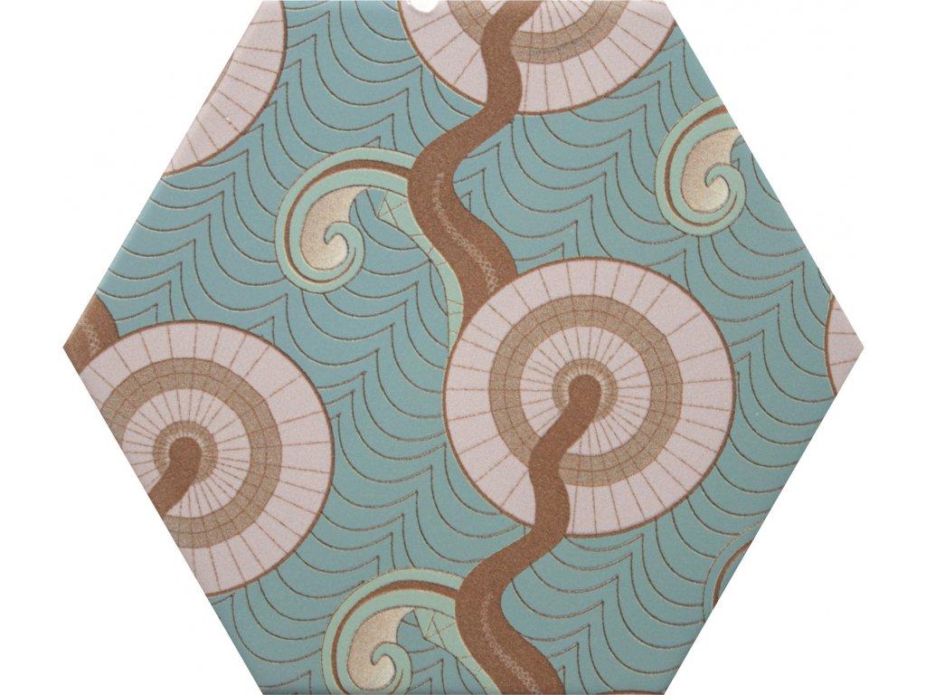 goog vibes hexagonalni dlazba obklady dekory jednobarevne 15