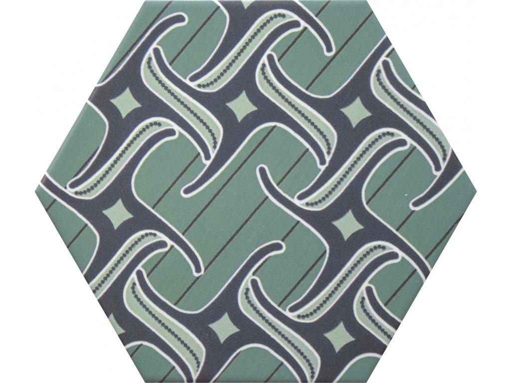goog vibes hexagonalni dlazba obklady dekory jednobarevne 13