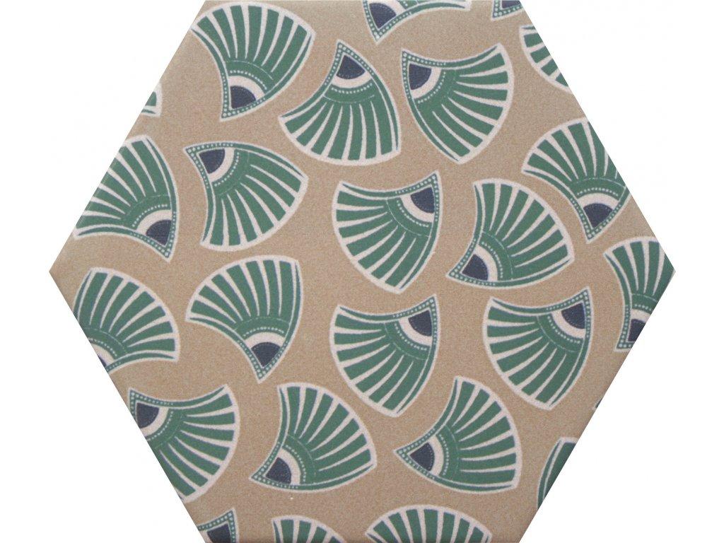 goog vibes hexagonalni dlazba obklady dekory jednobarevne 11
