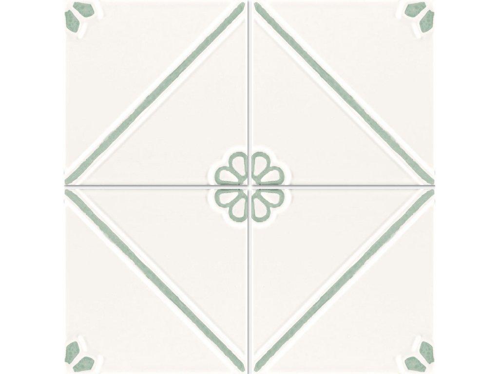 formelle obklady bile reliefni vintage kvetinove sedo modre 02
