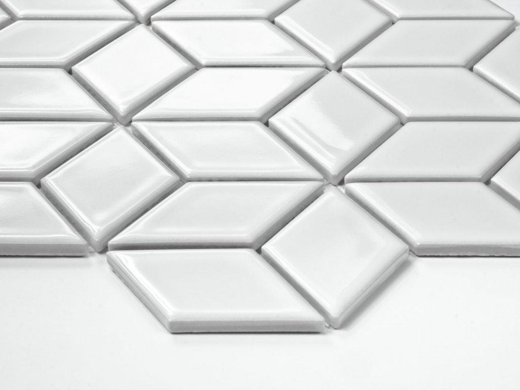 mozaika diamond na siti kosoctverec diamant bila leskla