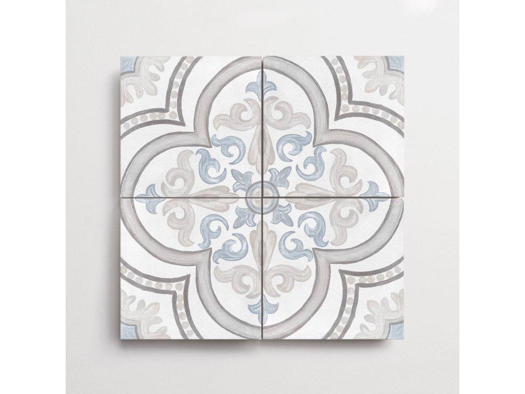 adobe dlazba jednobarevna matna rustikalni retro dekory daiza white