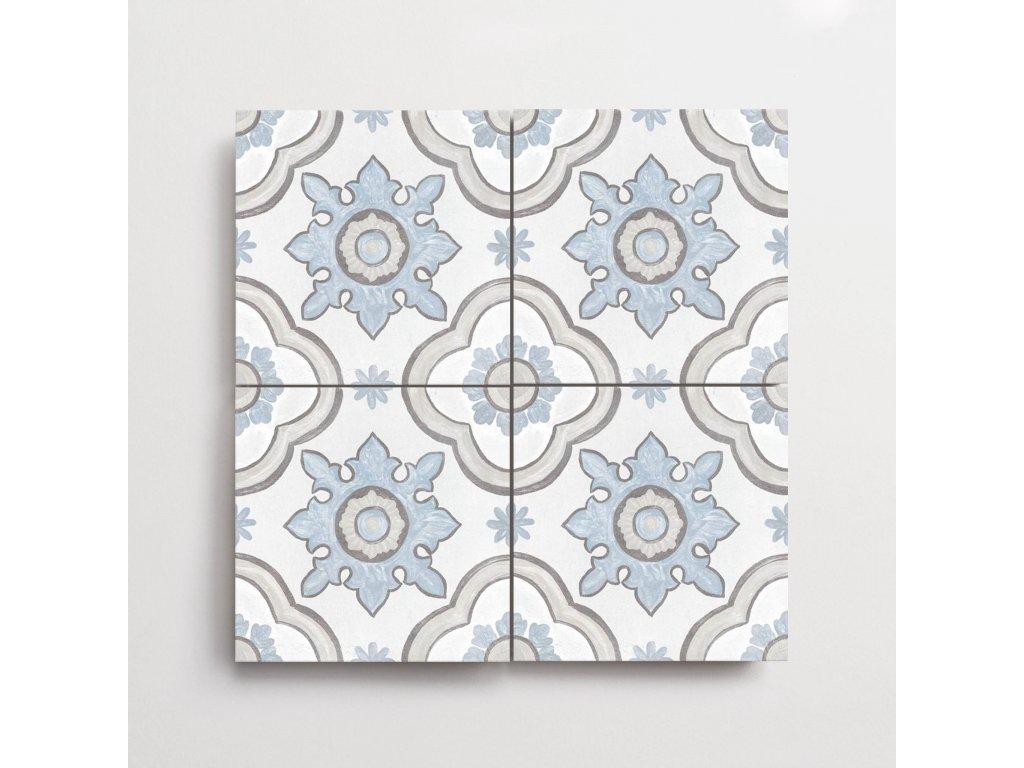 adobe dlazba jednobarevna matna rustikalni retro dekory basma white 01