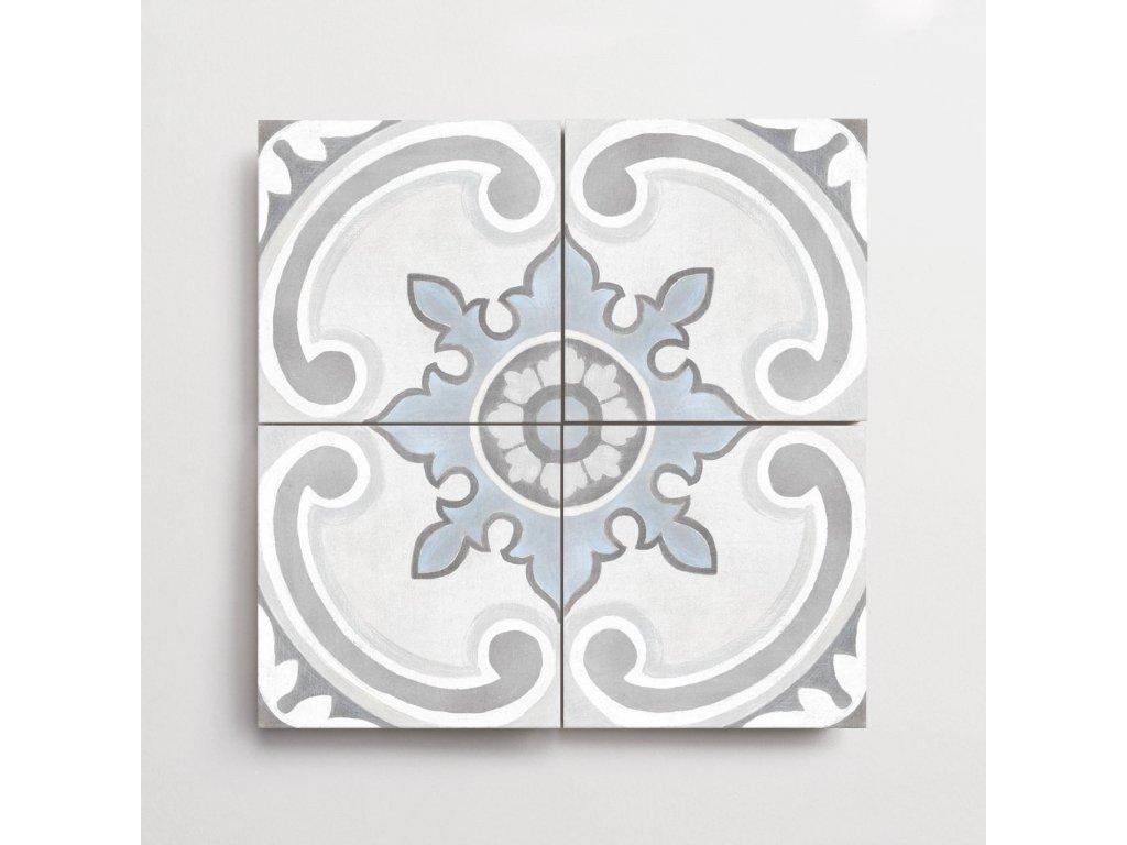 adobe dlazba jednobarevna matna rustikalni retro dekory gales white