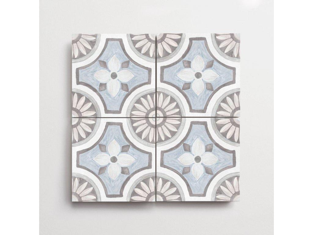 adobe dlazba jednobarevna matna rustikalni retro dekory basma white