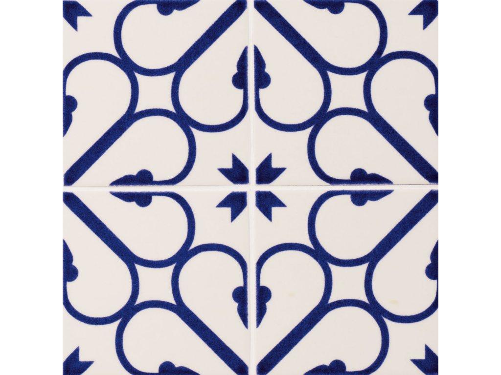 maiolica obklady modrobile 10x10 retro majolika Armonia