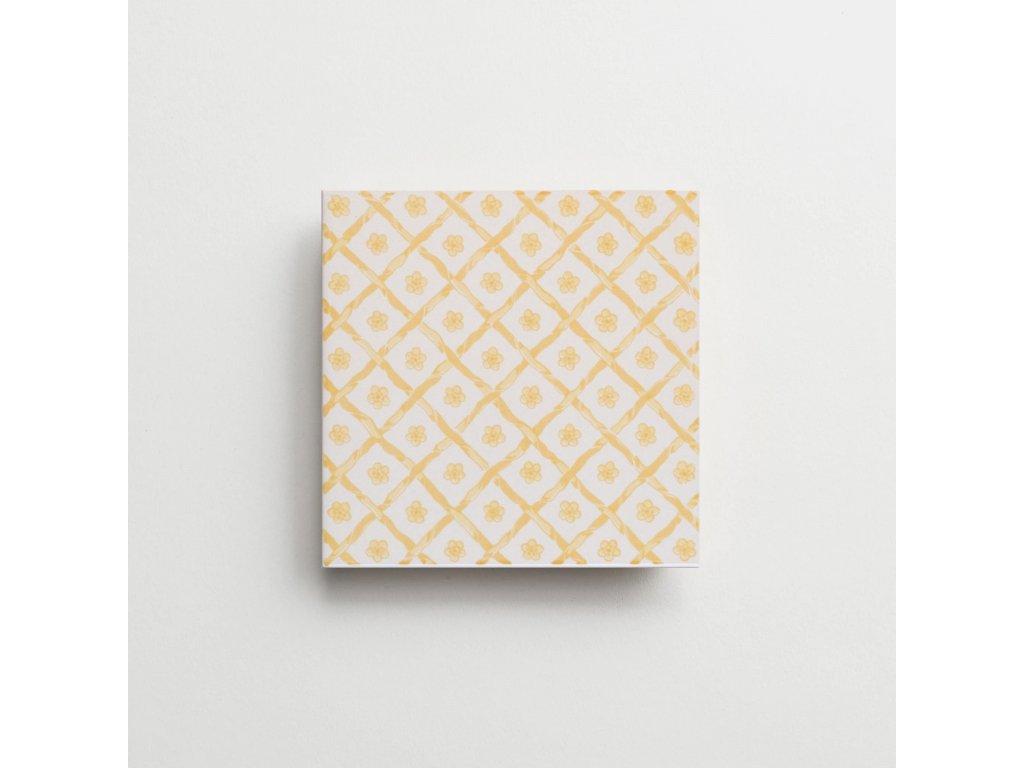 obklady rucne malovane modry dekor verbena petite iii 03
